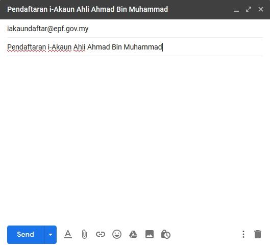 contoh tajuk email