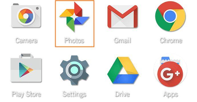 ikon google photos dalam hp