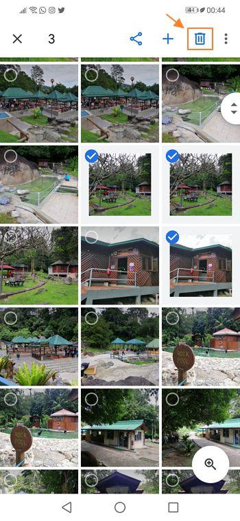 ikon tong sampah apps google photo