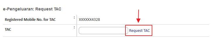 klik request TAC