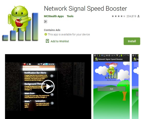 network signal speed booster by