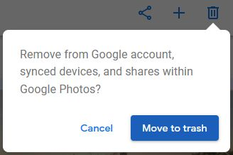 notifikasi amaran delete google photos