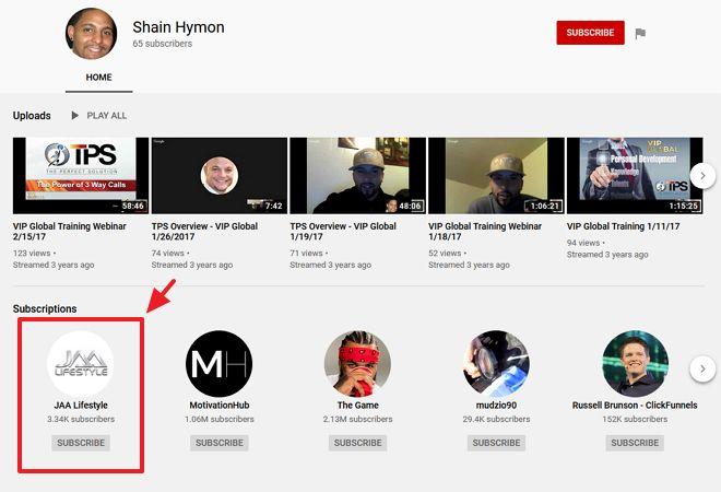 youtube channel shain hymon