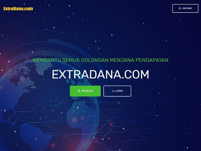 muka utama laman web extradana