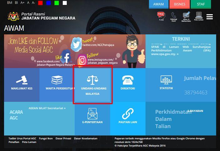 Pautan undang-undang malaysia dalam jabatan peguan negara