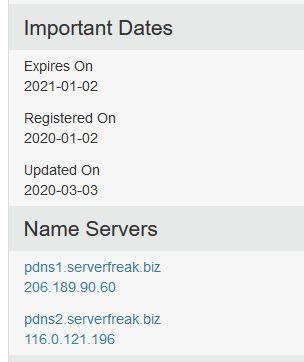 tarikh pendaftaran extradana domain