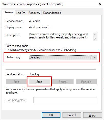 windows search services
