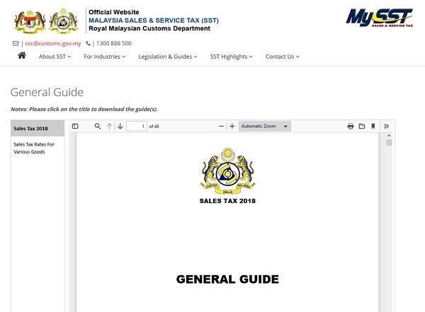dokumen general guide sst