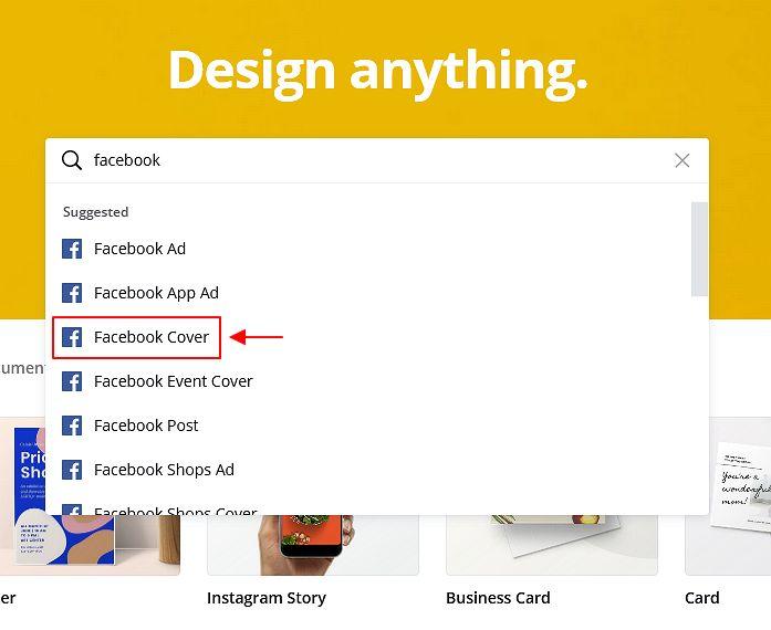 pilihan design facebook cover photo