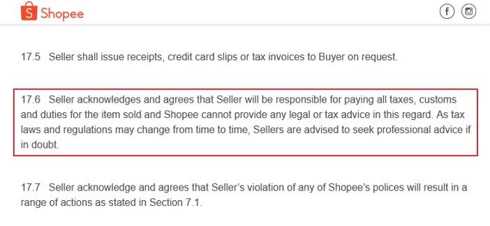 Kenyataan berkenaan cukai import di Shopee