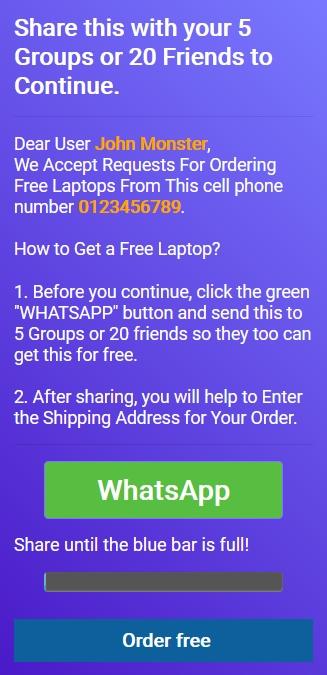 skim free laptop meminta unttuk di share