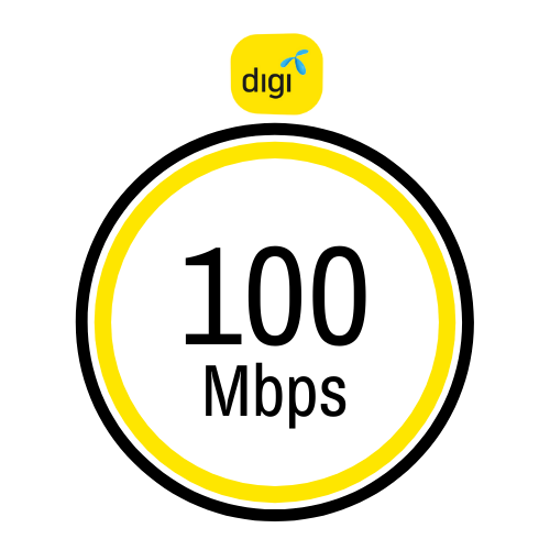 Pakej internet rumah Digi 100Mbps