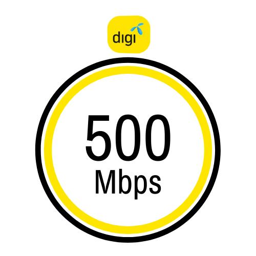 Pakej internet rumah Digi 500Mbps