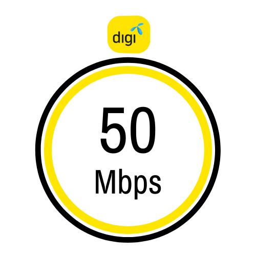 Pakej internet rumah terendah Digi 50Mbps