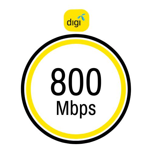 Pakej internet rumah Digi 800Mbps