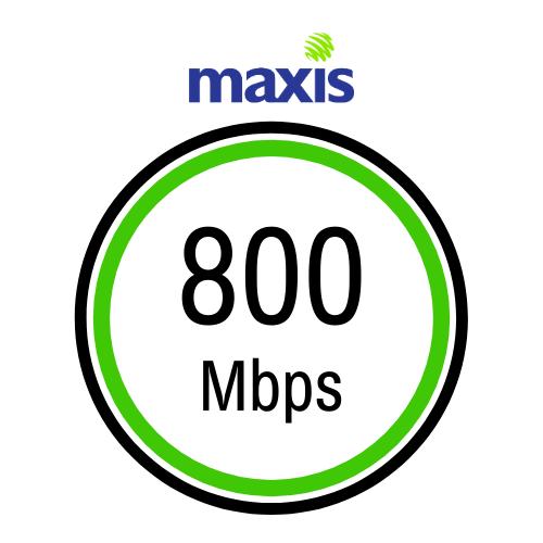 pakej internet terbaik dan terbesar dari maxis 800mbps plan