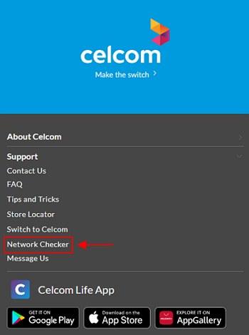 network checker untuk celcom