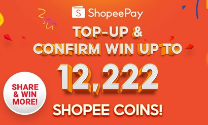 topup shopeepay and win
