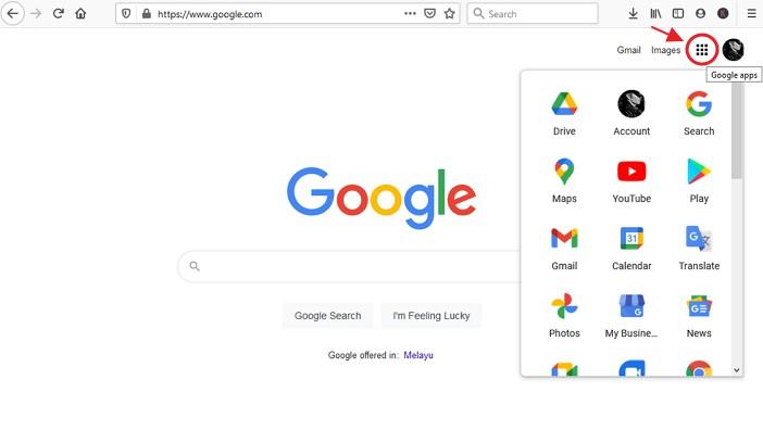 butang google apps