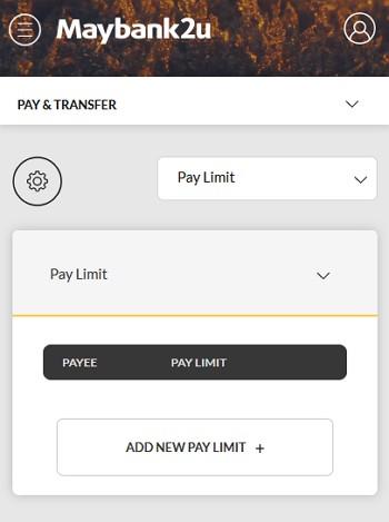 bahagian setting pay dan transfer