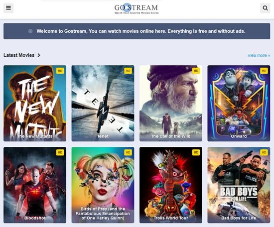 gostream laman movie percuma yang kurang iklan