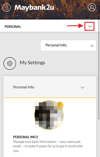 ikon menu dropdown