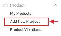 menu add new produk