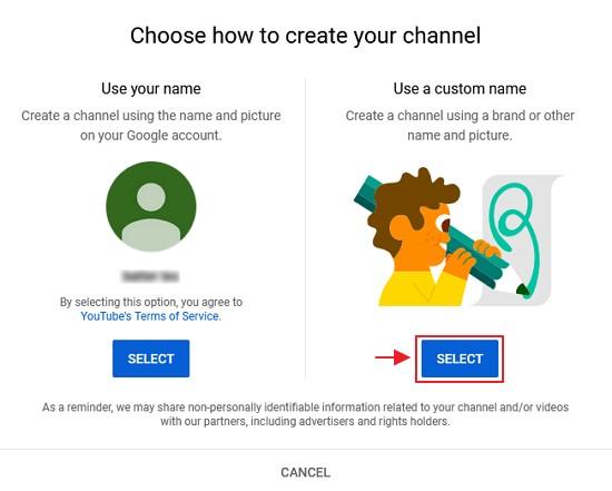 pilih custom name