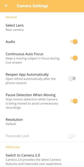 option dalam setting handphone viewer