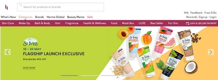 laman web online shopping hermo