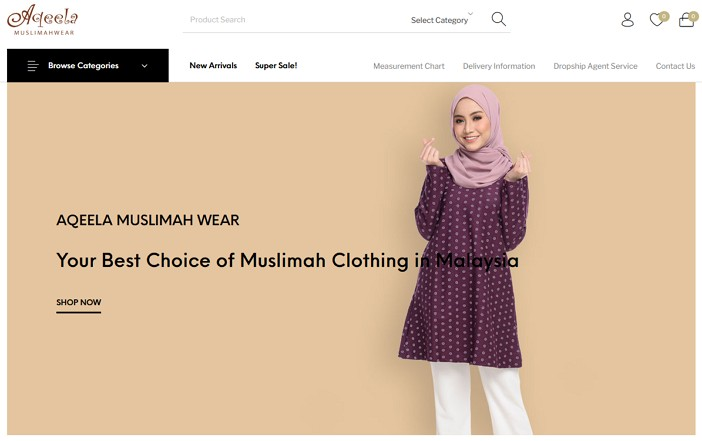 laman web online shopping Adeela Malaysia