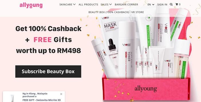 laman web online shopping allyoung malaysia