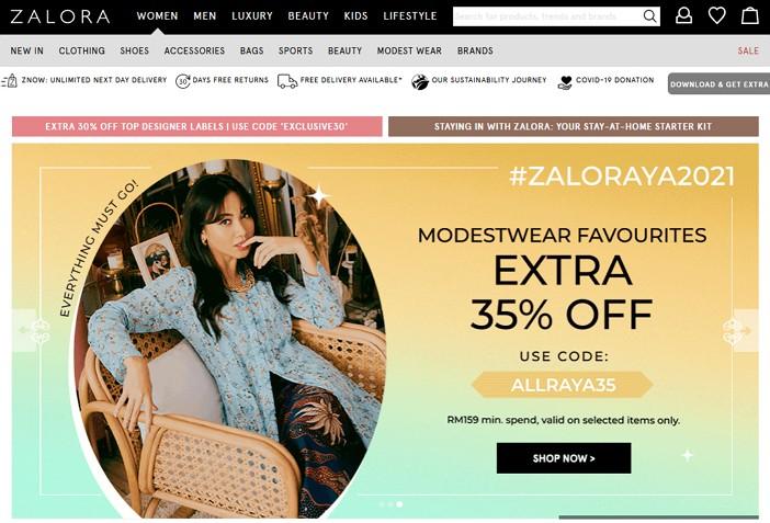 laman web online shopping zalora