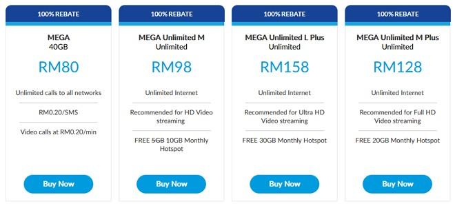 pakej postpaid celcom mega unlimited