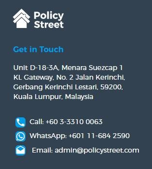 Maklumat perhubungan policystreet