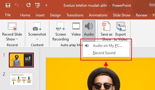 pilihan audio