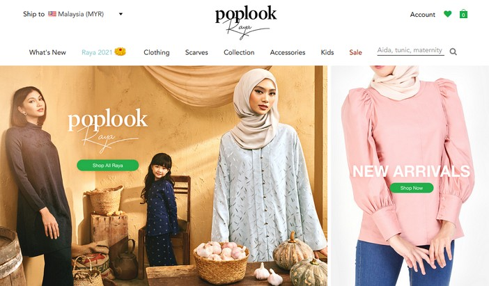 laman web online shopping poplook malaysia