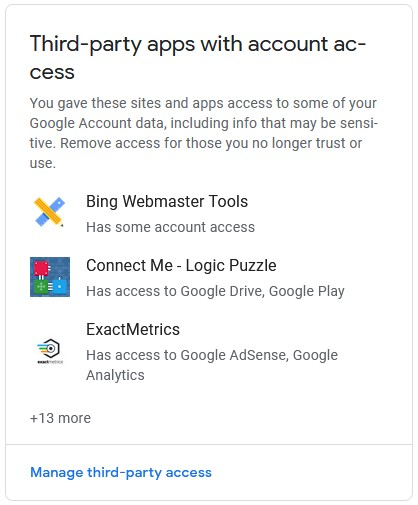 Third-party apps with account access