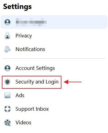 menu security dan login facebook rv2