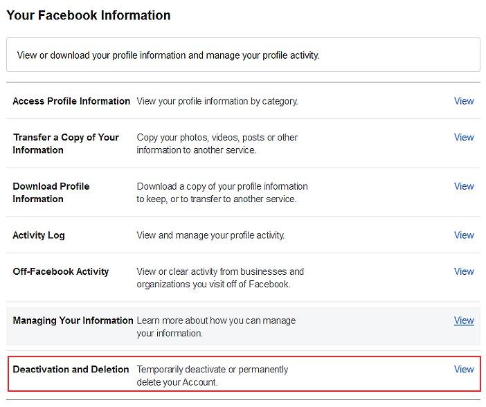 cara untuk deactivate atau padam akaun facebook untuk versi laman web